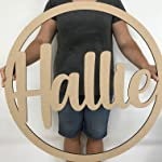 Personalised Wooden Name Hoop Wreath - LARGE - Hula Hoop Name Sign - Flower Wall