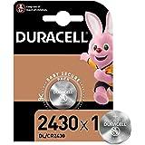 Duracell Pila especial de botón de litio 2430 de 3V, paquete de 1 unidad DL2430/CR2430, diseñada para uso en llaves con sens