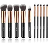 Makeup Brushes, SOLVE Premium Makeup Brush Set Synthetic Cosmetics Foundation Powder Concealers Blending Eye Shadows Face Mak
