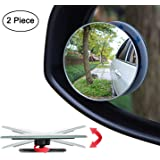 CarEmpire Blind Spot Round Wide Angle Adjustable Convex Rear View Mirror 360° Rotate for All Universal Vehicles - Pack…