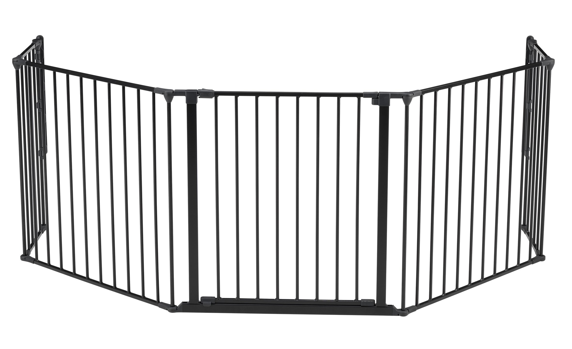 BabyDan Hearth Gate/Room Divider (Extra Large, 90-278cm, Anthracite)  Only configure system fulfilling newest european safety standard Multi purpose hearth gate and room divider There are 5 panels in total, 1 larger 72cm gate section panel, 2 larger 72cm panels and 2 smaller 33cm side panels. For shipping purposes, the 2 smaller side panels are connected by the interlocking pole 1