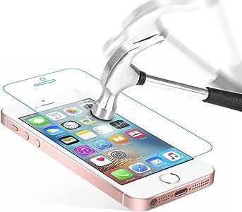Danibos Schutzfolie Panzerglas für iPhone SE/ 5S/ 5/ 5C, Displayschutzfolie Gehärtetem Glas Schutzglas für iPhone SE/ 5S/ 5/ 5C