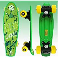 Baybee Plastic Skateboard with Colorful PU Wheels- Complete Cruiser Skate Board Ride On for Kids Boys and Girls, High…