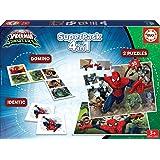 Educa - Superpack juegos Spiderman vs Sinister 6, contiene 2 puzzles, 1 juego de memoria y 1 domino, a partir de 3 años (1719