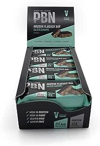 PBN High Protein Flapjack Barrette Proteiche Flapjack, Caramello Salatol, 50 g (Confezione da 12)