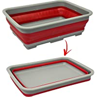 Bassine pliable Plat de cuisine de camping caravane Bateau Voyage Réservoir à eau facile Pop Out Coque en silicone Plastique Motif