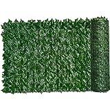 Kunstmatige Hedge Groen Blad Klimop Hek Scherm Plant Muur Kunstgras Decoratie Achtergrond Privacy Balkon Thuis Tuin 0.5x3m