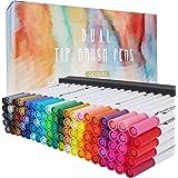Set di penne a doppia punta, 100 colori, pennarelli artistici, penne fineliner per bambini e adulti, disegni, pianificatori,