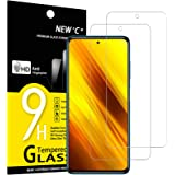 NEW'C Lot de 2, Verre Trempé pour Xiaomi Poco X3 / Poco X3 Pro/Poco X3 NFC, Film Protection écran - Anti Rayures - sans Bulle