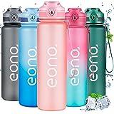 Amazon Brand - Eono Gourde Sport, Bouteille d'eau 1L en Plastique Tritan sans BPA, Gourde d'eau Reutilisable Anti-fuites avec