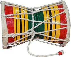 ITOS365 Handmade Damroo for Kids Indian Musical Instrument Damru Toy Gift