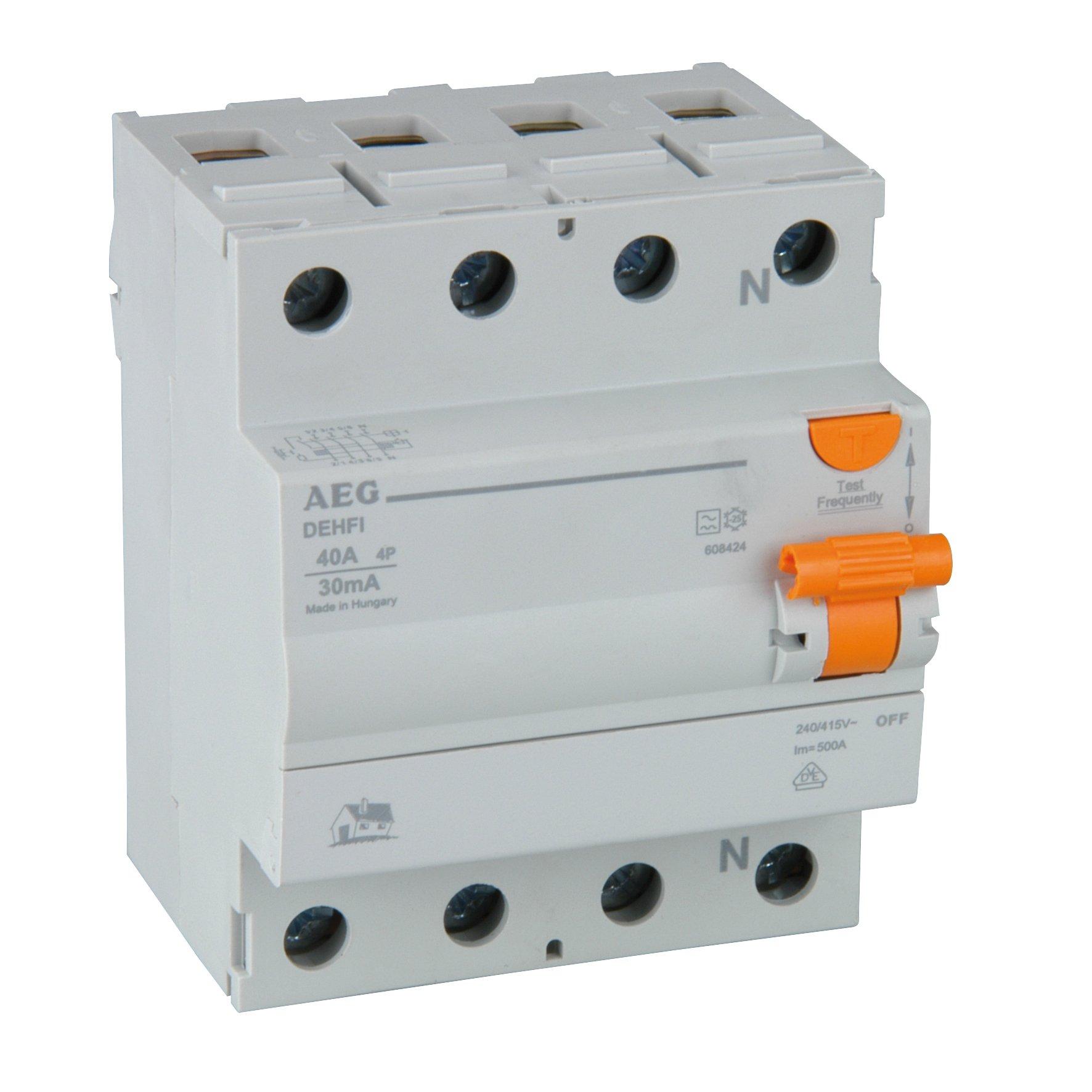 AEG 40271 Disjoncteur différentiel 4 pôles 40 A 30 mA