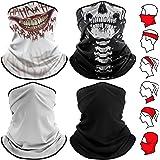 TEMINICE Unisex 4 Pieces Bandana Face Mask - Headwear Bandana Face Cover Mask,Headband Scarf Neck Gaite Washable Breathable D