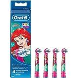 Oral-B Braun 2K-EB10, testine per spazzolino per bambini, motivo: principesse Disney, confezione da 4