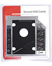 Care Case Optical Bay 2nd Hard Drive Caddy, Universal for 9.5mm CD/DVD Drive Slot (for SSD and HDD)