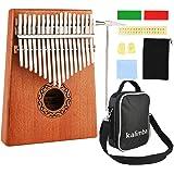 Nabance Kalimba 17 Clés Pouce Piano avec instructions d'étude, Tuning Hammer, Portable sac, bois Acajou, Haute Qualité pour L