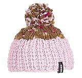 SINNER Erwachsene Hand Strickmütze Beartown Beanie Mütze, Pink/Brown Speckles,