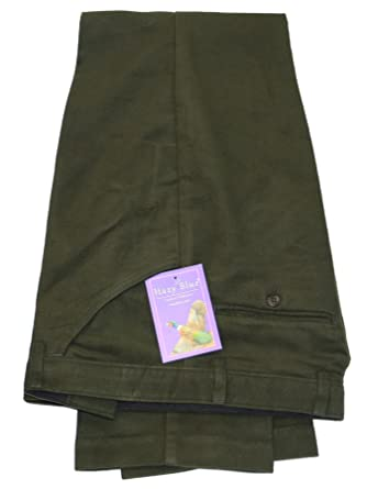 What are moleskin trousers made of?