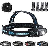 WUBEN H1 Hoofdlamp, 1200 lumen, led, meerdere lichtbronnen, hoofdlamp, USB-oplaadbaar, IP68 waterdicht, reflecterende strips,