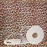 ANRO Weichschaummatte Badvorleger Bodenbelag Badläufer Antirutsch 65x100cm Leopard