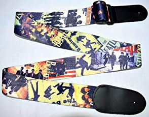 Fussion Exclusive Dual Side Designer Premium Quality Adjustable Guitar Strap, Polyester 2 MM Thick Fabric, 140 CM (55 Inch) Length, 5 CM (2 Inch) Width, 140 Gram Weight - Imported Product - Beatles