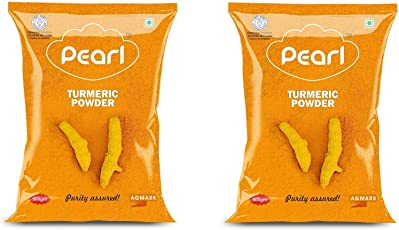 Pearl High Curcumin Natural Turmeric Powder Agmark Approved 500g Pack of 2(500g+500g)