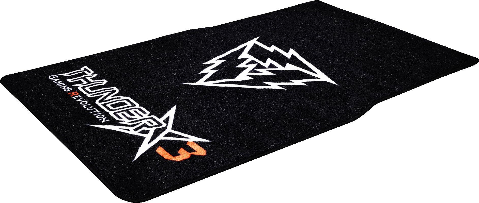 ThunderX3 TGM20- Alfombra para Silla Profesional Gaming- (Antideslizante, Confortable, Fácil de Lavar) Color Negro