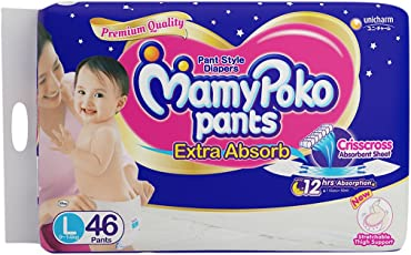 MamyPoko Pant Style Extra Absorb Large Size Diapers (46 Count)