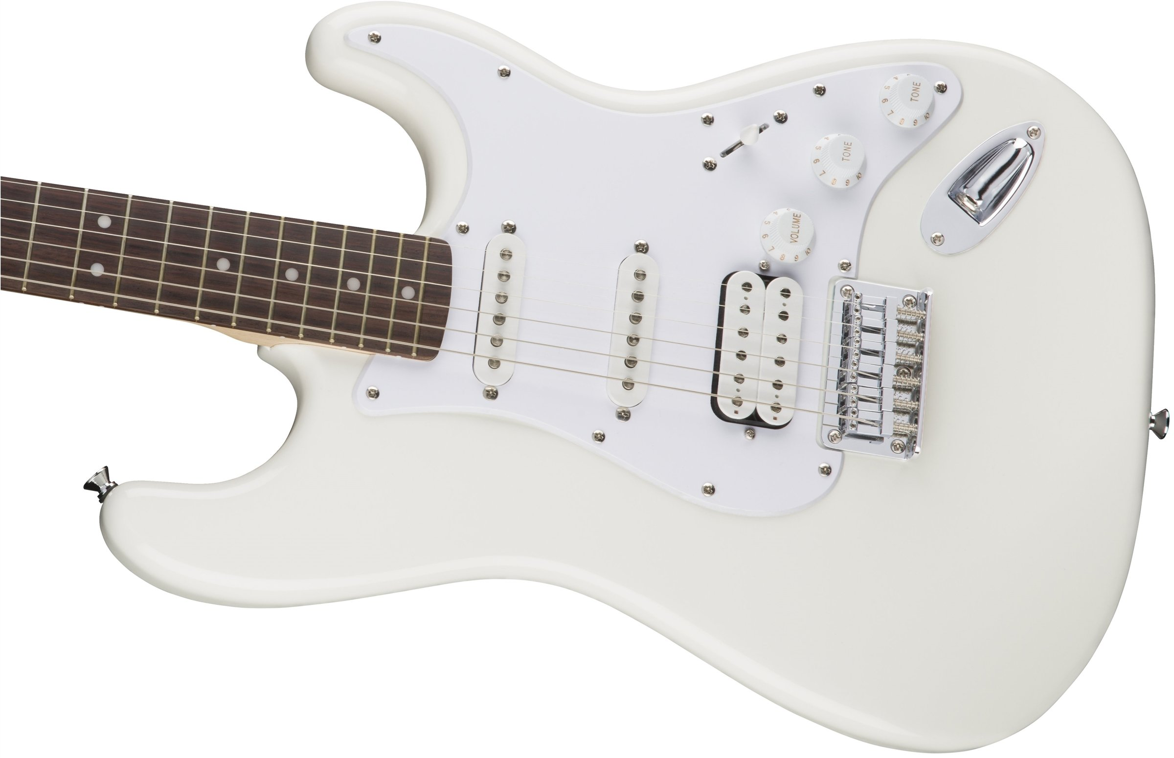 Squier Bullet Stratocaster Hard Tail HSS – Arctic White