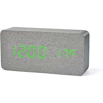 Yihya Blanc Design à la Mode Digital Alarme LED Snooze Horloge ...
