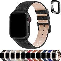 Fullmosa Compatible Apple watch strap 38mm 40mm 41mm 42mm 44mm 45mm Leather iWatch Band/Strap Compatible Apple Watch SE…