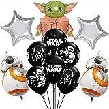 Pack 17 Globos Star Wars ZSWQ-Decoración con temática de Star Wars para Favores Regalo Carnaval Boda Fiestas y cumpleaños,Ide