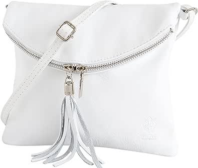 AmbraModa Borsa a tracolla donna Piccola borsa italiana realizzata in morbida vera pella SAVAGE NL610
