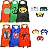 Easony Costumi da Supereroi per Bambini Costumi Carnevale Mantelli e Maschere Giocattoli per Bambini e Bambine - I Migliori Regali