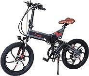 Aest Top730 Folding Electric Bike - Black Grey (20 Inch)