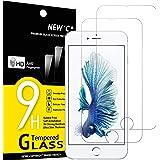 "NEW'C 2-pack skärmskydd med iPhone 6 Plus, 6s Plus (5.5"") – Härdat glas HD klar 9H hårdhet bubbelfritt"