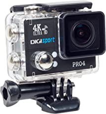 DigiSports Action Camera Pro 4 Go Pro Style Sports Action Camera 4K Ultra HD With Wi-Fi 20 Megapixels
