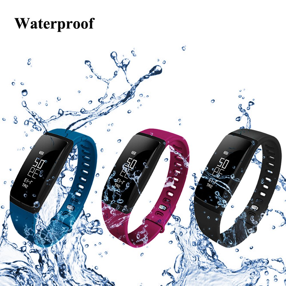 Fancy Cherry® Smart Fitness Watch V07 IP67 Waterproof sports Bracelet Bluetooth 4.0 Smartwatch Activity tracker Health Heart Rate Monitor Pedometer with Call/MSM Reminder for Smartphone
