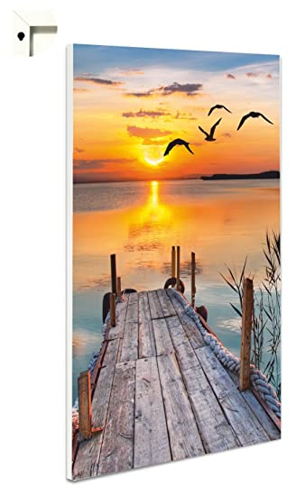 magnettafel kuche pinnwand memoboard motiv steg in der abendsonne 60 x 80 cm amazonde ka 1 4 che haushalt vintage