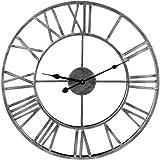 Wanduhr Groß 50CM Wanduhr Vintage Wanduhren Lautlos Wanduhr Ohne tickgeräusche Retro Wand Uhr Wanduhr Metall