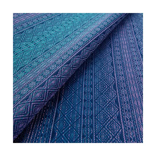 Didymos Woven Baby Wrap, Prima Sole Occidente, Size 6, 470 cm, Blue Didymos Various carrying positions, in front, sideways an on the back Special, diagonally stretchable cloth to give optimal support Holds your baby in the anatomically correct posture 2