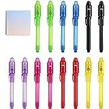 DazSpirit 14 Stuks Geheime Pen en Notebook Leesbaar Door Licht UV Pen Weggeefactie Magische Pennen Kids Pen Markers Voor Kind