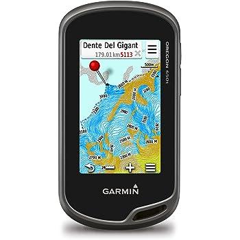 """Garmin Oregon 650t GPS Portatile, Schermo 3"""" Touch, Camera 8 Megapixel, Mappa Topografica Europea, Altimetro e Bussola Elettronica, Grigio/Nero/Bianco"""