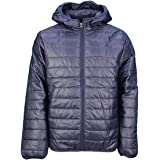 Soulstar Mens Hester Wuilted Bubble Jackets Lightweight Hooded Puffer Coat - Royal Blue