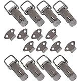HMF 14980-09 roestvrijstalen spansluiting met slotoog | 8 stuks | 27 x 75 mm | zilver
