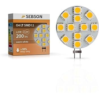 SEBSON LED Lampe G4 warmweiß 3W (2.5W), ersetzt 20W Glühlampe, 200lm ...