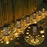Luci Giardino Solare,Tomshine 6Pcs Lampada Solare Impermeabile Esterno Giardino Decorative Illuminazione Solare per Cortile T