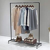 FURVOKIA Support industriel à vêtements pour tuyaux - Pour vêtements - Style vintage - Noir