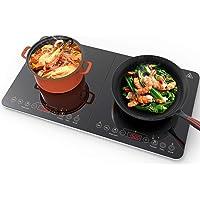 Aobosi Plaque à induction, plaque de cuisson à induction double, table de cuisson portable, commande par capteur et…
