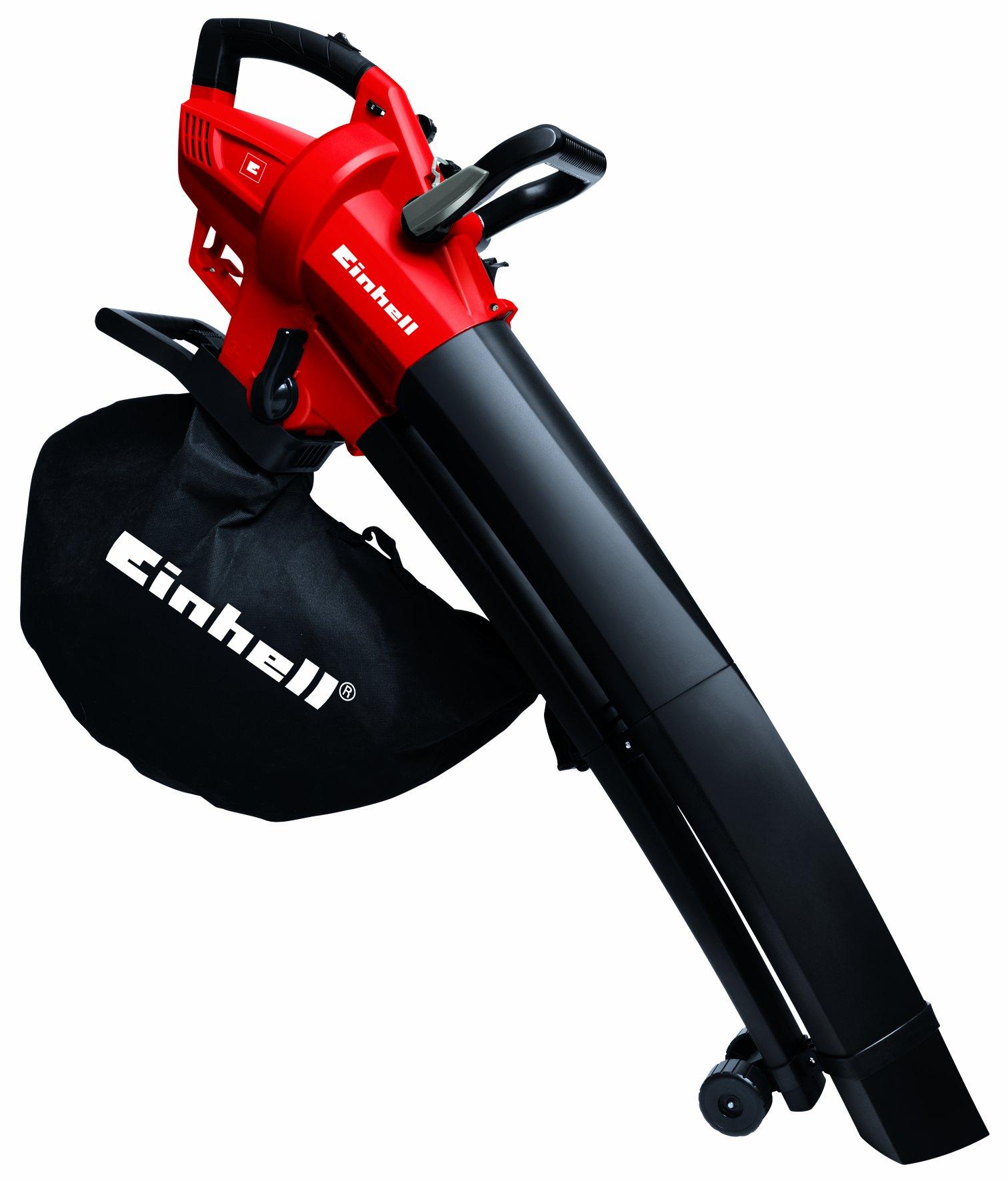 Einhell Elektro-Laubsauger/Laubbläser GC-EL 2600 E, bis 270 km/h, 45 l Fangsack, Tragegurt
